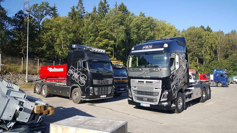 Lastbilar för byggbranschen