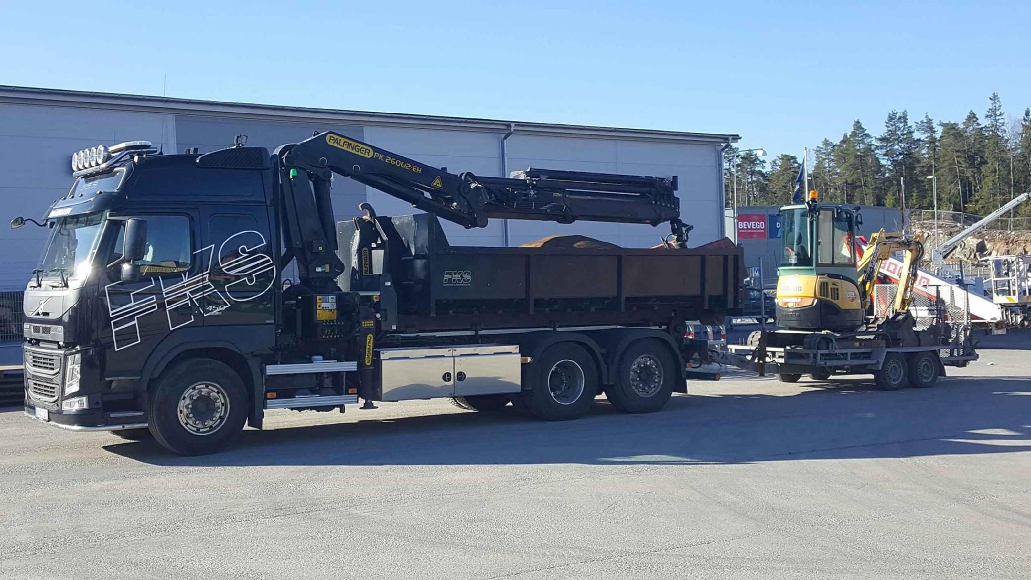 Lastbil för anläggningsbranschen